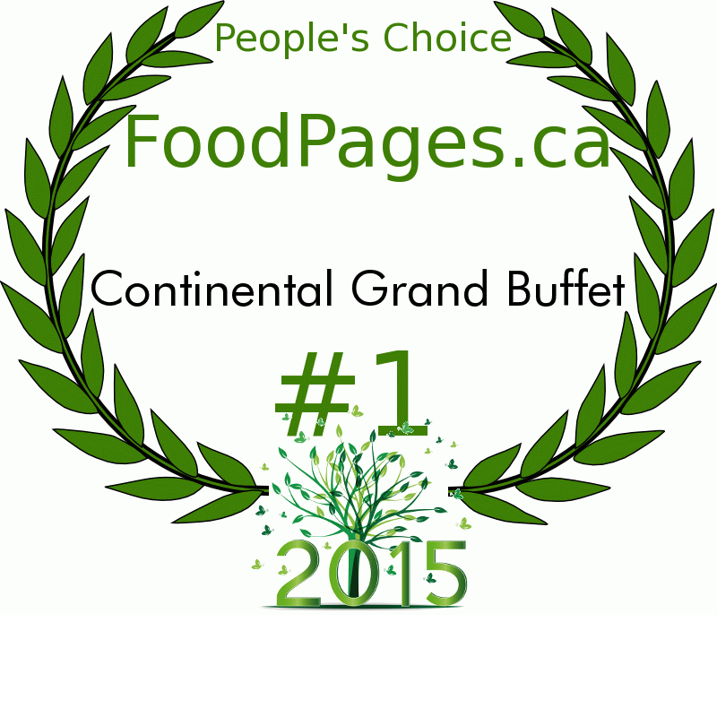 Continental Grand Buffet FoodPages.ca 2015 Award Winner